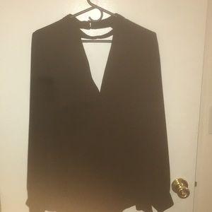 Back dress blouse
